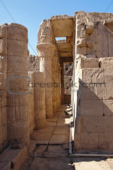 architectural detail at the Temple of Edfu