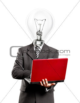 Business Lamp Head Idea Man