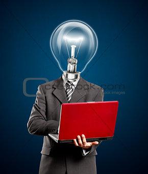 Business Lamp Head Idea Man