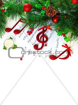 Christmastime treble clef