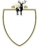 Emblem with deer