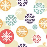 Christmas background with watercolor stripes and snowflakes
