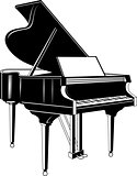 grand piano. concert
