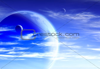 Sky and planet