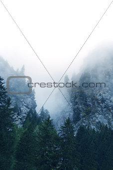 Fog in the Alps, Switzerland