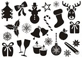 Christmas and winter icons