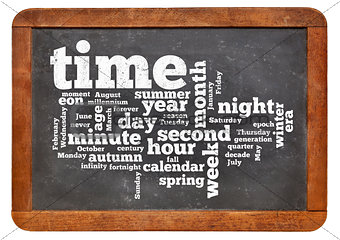 time and calendar word cloud