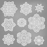 Vector Paper Cut Snowflakes