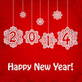 Vector New 2014 Year Greeting Card