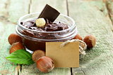 sweet chocolate hazelnut spread with whole nuts