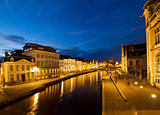 old town of Ghent at night
