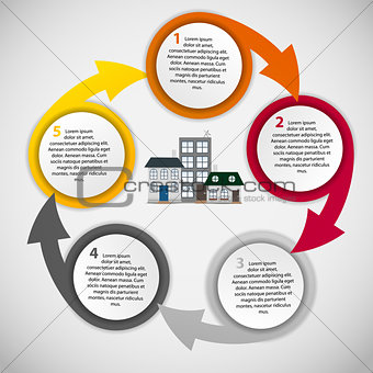 Town infographic template business concept vector illustration