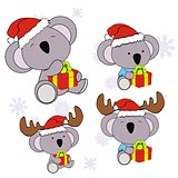 koala xmas baby cartoon