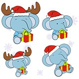 elephant xmas baby cartoon