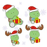 turtle xmas baby cartoon