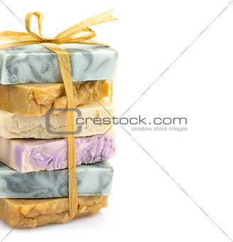 Beauty handmade soap pile