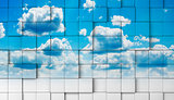 sky mosaic background
