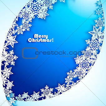Abstract New year Background with paper snowflakes