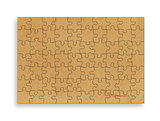 vintage  paper on white background in the form of a puzzle