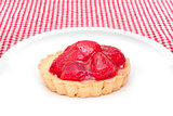 strawberry cookie on plate