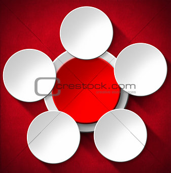 Circles Abstract Background - Red Velvet