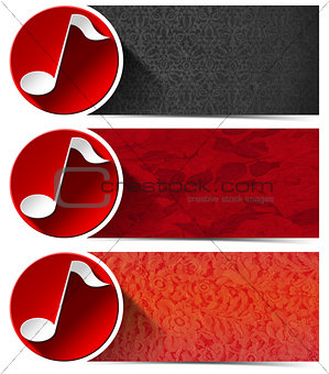 Three Musical Banners - N1