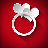 Wedding Ring and Two Hearts