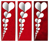 White Paper Hearts - Three Banners