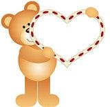 Teddy Bear holding a Blank Heart