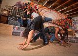 Capoeira Performers Tumbling