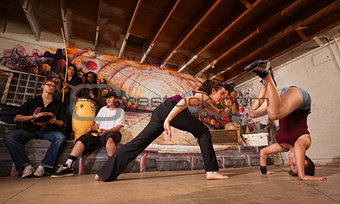 Capoeira Fighters and Musicians