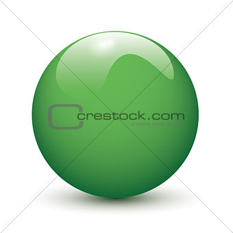 Green glossy ball