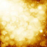 Golden lens flare background
