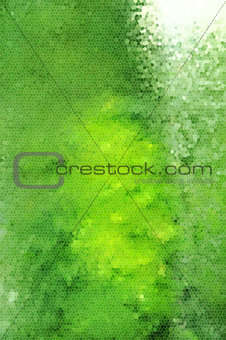 Green mosaic style background