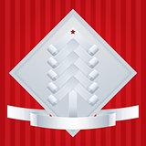 Paper Fir-Tree. Christmas Greeting Card