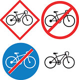 Bicycle Road Sign Symbol