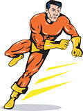 Superhero Running Retro