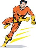 Superhero Running Retro