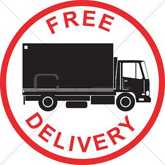 Free Delivery Truck Retro