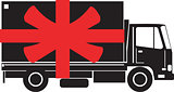 Delivery Truck Side Gift Ribbon