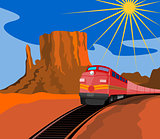 Train in Desert