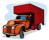 Truck Movers Vintage Retro