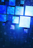 vector background with snowflakes and geometric figures