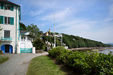 PORTMEIRION, WALES - JUNE 18: Portmeirion Village in Wales