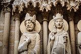 Notre Dame de Paris Exterior Details, Paris, France