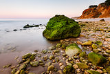Green Stones at Porto de Mos Beach in Lagos, Algarve, Portugal