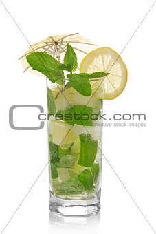 Mojito, decorated with umbrella
