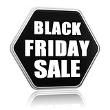 black friday sale black hexagon banner