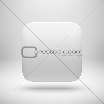 Abstract White Blank App Icon Template