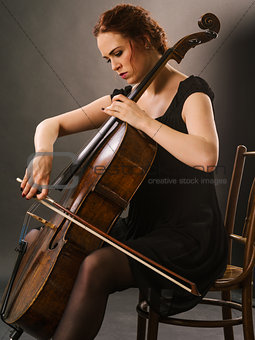 Beautiful cello player